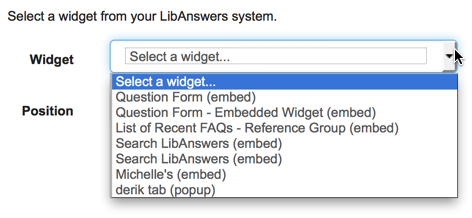 Add any LibAnswers 2 widget to your LibGuides 2 system