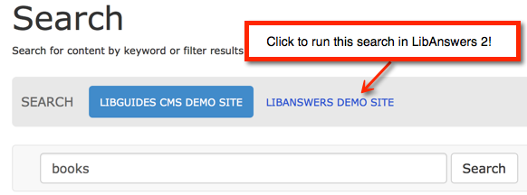 Click the LibAnswers button to execute this search in your LibAnswers 2 system