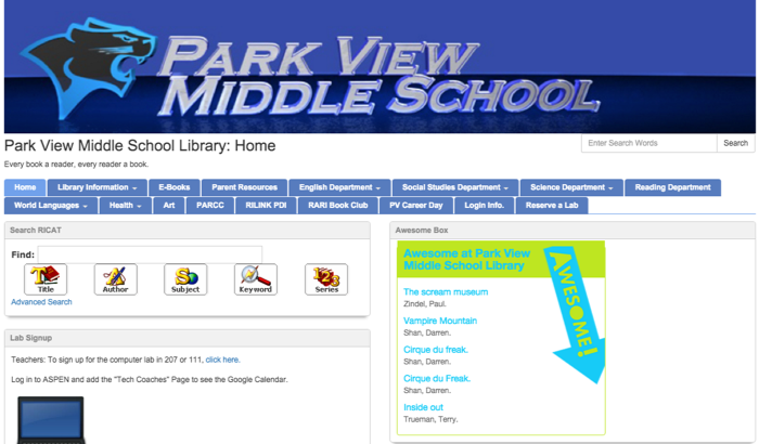 Park View Middle School LibGuides
