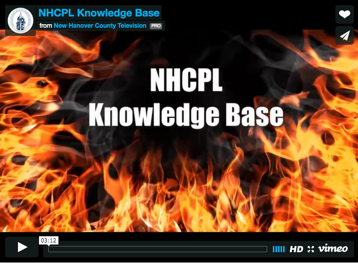 New Hanover County Public Library Knowledge Base Video Screenshot