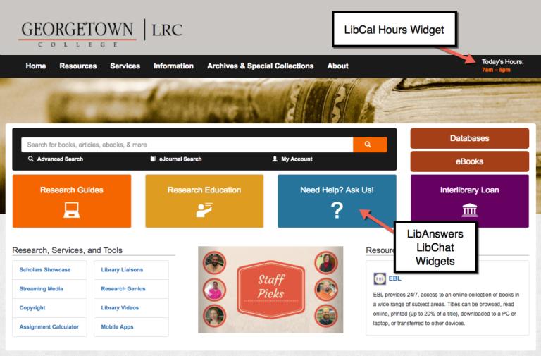 Georgetown College Website