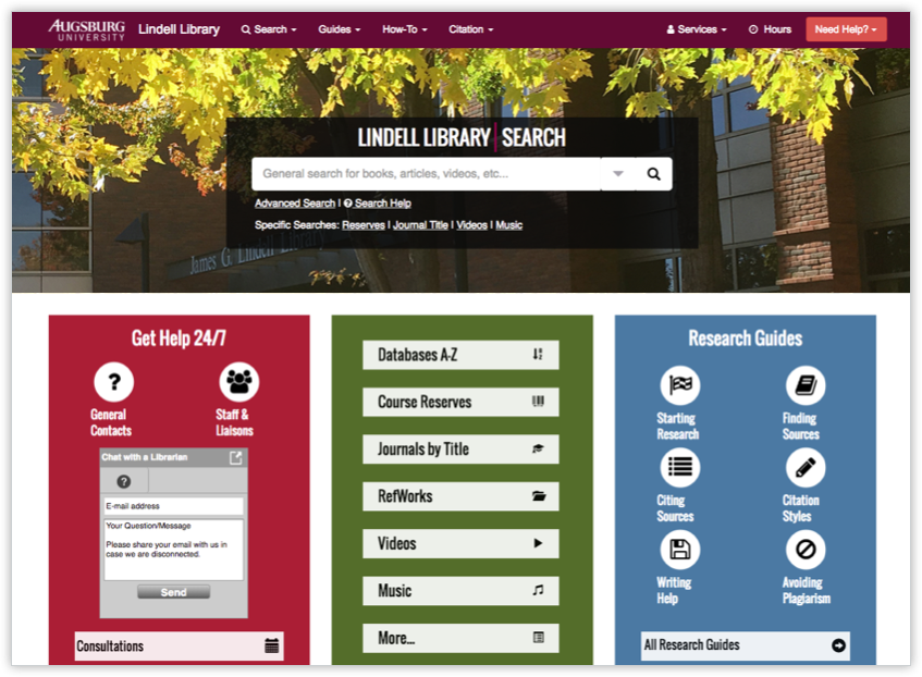 August University Library Homepage