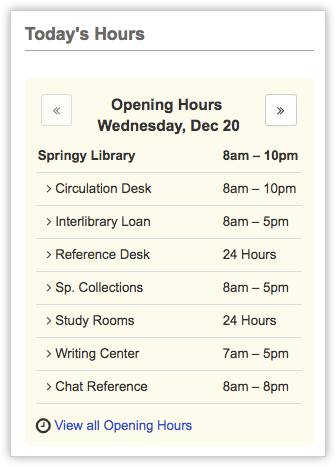 LibCal-Hours