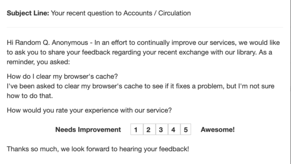 Image of Follow-up user satisfaction email