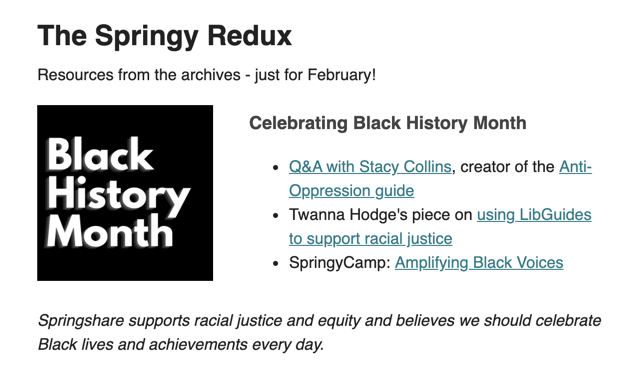 February's archive resources focused on celebrating Black History Month